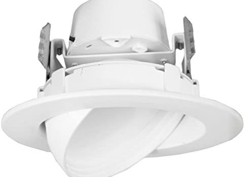 12 Watt 4″-Inch Rotatable 750 Lumens Maxxima LED Retrofit Downlight Gimbal Warm White 2700k Dimmable, Energy Star
