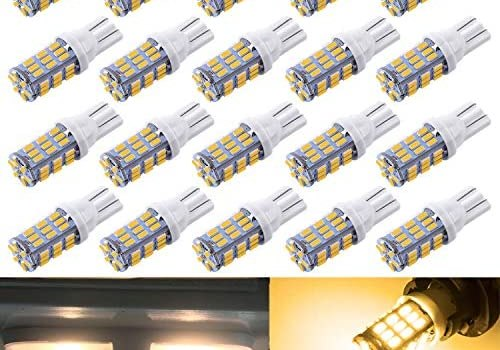 AOKEzl 921 RV Interior LED Light Bulbs, T10 912 194 LED Camper Light Replacement Bulbs for RV Car Dome Map Door License Plate Trailer Backup Reverse Lights, White 42-SMD Super Bright (Warm White, 20)