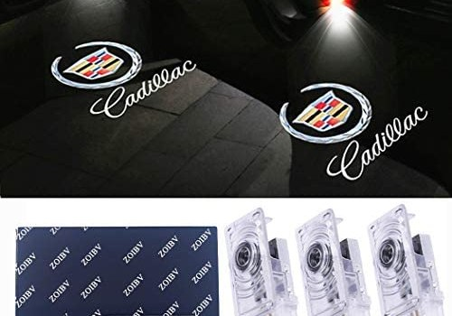 Car Door Lights for Cadillac Logo Lights Car Door Lighting Entry Ghost Shadow Projector Laser Emblem Welcome Lamp for ATS SRX XTS Accessories Replacement (4 Pack)
