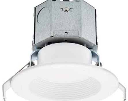 Maxxima 4 in. 2700K Canless Recessed LED Downlight, Integrated J-Box, 800 Lumens, Warm White