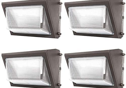 Sunco Lighting 4 Pack 80W LED Wall Pack, Daylight 5000K, 7600 LM, HID Replacement, IP65, 120-277V, Bright Consistent Commercial Outdoor Security Lighting – ETL, DLC