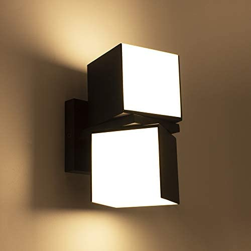 LUTEC Cuba 3000K 1100LM LED Integrated Porch Wall Light Outdoor and Indoor Bedroom LED Wall Lantern Sconce