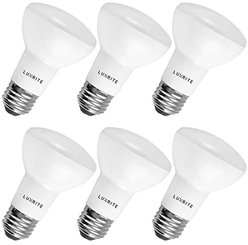 Luxrite BR20 LED Bulb, 45W Equivalent, 3000K Soft White, Dimmable, 460 Lumen, R20 LED Flood Light Bulb 6.5W, Energy Star, Damp Rated, E26 Base, Perfect for Recessed and Track Lighting (6 Pack)