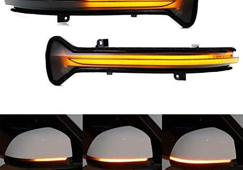 iJDMTOY Smoked Lens Dynamic Sequential Blink/Flow Full LED Side Mirror Turn Signal Light Assembly Kit Compatible With 2017-up BMW G30/G31 5 Series, 2016-2019 BMW G11 7 Series