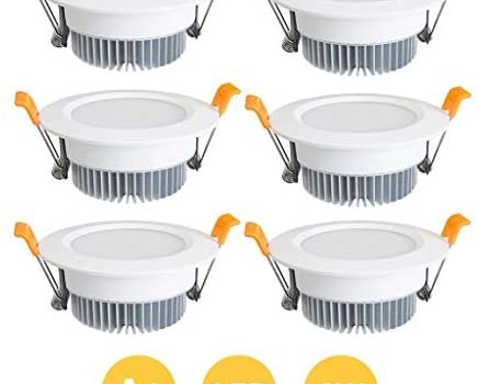 6 Pack LED Ceiling Recessed Downlight Spotlight Light Bathroom Bathroom spot Lights 3W Cut Out 80mm Down Lights Spotlights Not dimmable for Living Room Bedroom Kitchen [Energy Class A+]