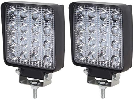 Northpole Light 2X 48W Square Flood LED Light Bar Work Light, Jeep Off-Road Light, Driving Fog Light with Mounting Bracket for Off-Road, Truck, Car, ATV, SUV, Jeep