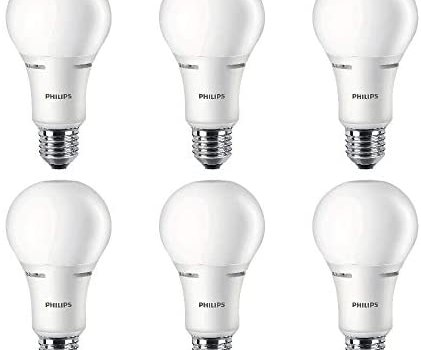 Philips LED 472548 50-100-150 Watt Equivalent 3-Way Frosted A21 Energy Star Certified LED Light Bulb (6 Pack), 6-Pack, Soft White, 6 Count