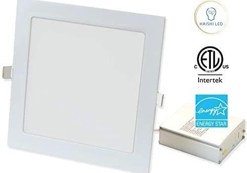 1260 Lumen, 8 inches Square Recessed Ultra Slim Ceiling LED Down Light, Air Tight & IC Rated, ETL, Energy Star (Square, 8 inches)