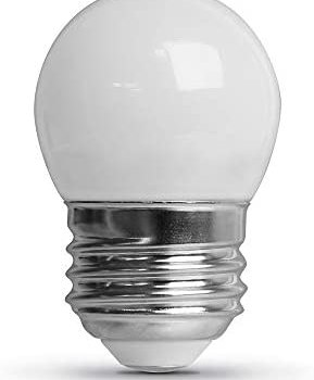 Feit Electric BP71/2S/W/LED/6 0.6W 7.5W Equivalent Dimmable 30 Lumen E26 Base Frost LED S11 Specialty Light Bulb, 2.2″H x 1.4″D, 2700K (Soft White), 6 Piece