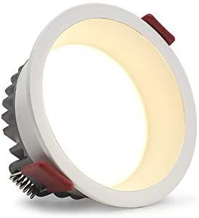 LED Recessed Downlight, White Ultra Thin Round Recessed Ceiling Light High Brightness Prevent Glare Installation LED Recessed Retrofit Downlight LED Trim Can Lights,6000k,90mm 9W