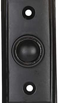 Wired Iron Doorbell Chime Push Button in Black Powder Coat Finish, Vintage Decorative Door Bell with Easy Installation, 2 9/16″ X 1 3/16″