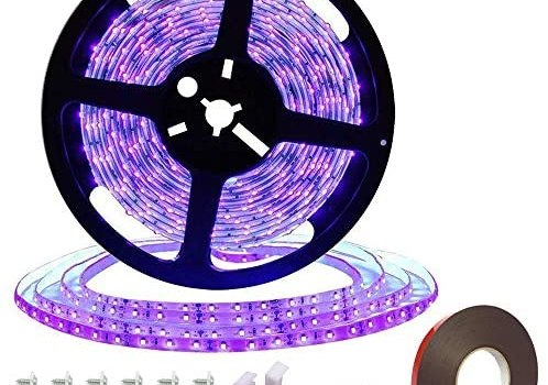 Black Light Strip, Purple led Strip Lights 16.4Ft/5M 300 Units Lamp Beads, Non- Waterproof Purple Light for Dance Party, Body Paint, Night Fishing, Work with 12V 2A Power Supply(Not Include)