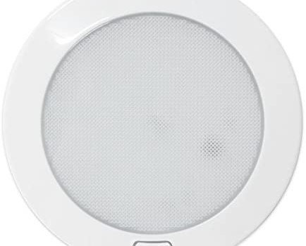 Dream Lighting 12Volt LED Panel Light with Switch – 5″ White Shell Ceiling Downlight – Cool White Panel Downlight for Kitchen, Roof, Cabinet and Cabin