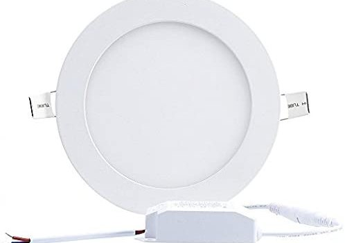 H&G 6W 4-inch Dimmable Flat LED Panel Light Lamp,LED Downlight,Ultra-Thin Recessed Ceiling Light, 420lm, 3000K Warm White, Downlight with 120V LED Driver for Home, Office, Commercial Lighting