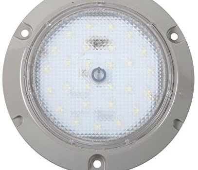Maxxima M84406-SW 480 Lumens 27 LED 5.50″ Gray Interior Dome Touch Switch High Diode Count Light, 1 Pack