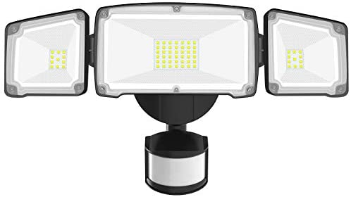 HARMONIC LED Security Lights Motion Sensor Light Outdoor, IP65 Waterproof, 42W, 4000LM Super Bright Motion Sensor Flood Light Outdoor for Yard, Garden, Garage and Entryways