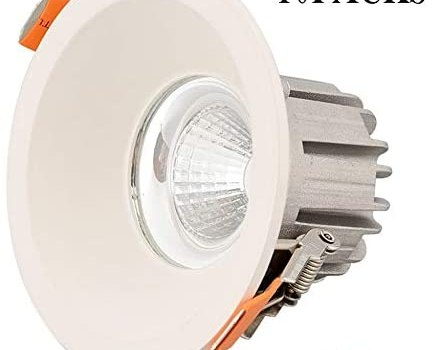 Foicags 4.33 Inch Led Dimmable Ceiling Lights, 10W 850 Lumens Ra 80110-240V Led Recessed Downlight Cutting Size: 90mm(3.54inch) 10pcs (Color : Warm Light 3000K-3500K)