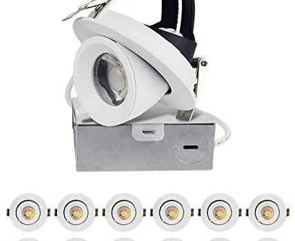 OSTWIN (12 Pack) 3 Inch LED Gimbal Recessed Light with Junction Box, LED Color Changing Lights 3000K – 4000K – 5000K, Canless Recessed Lighting Dimmable 8W (40 Watt Repl), 560 Lm, ETL & Energy Star