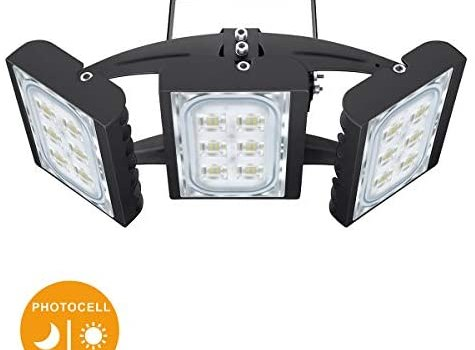 STASUN 8100lm Dusk to Dawn LED Flood Light, 90W Outdoor Lighting with Photocell, 6000K, OSRAM LED Chips, IP66 Waterproof Wide Lighting Angle Security Area Lights for Yard, Playground, Garden