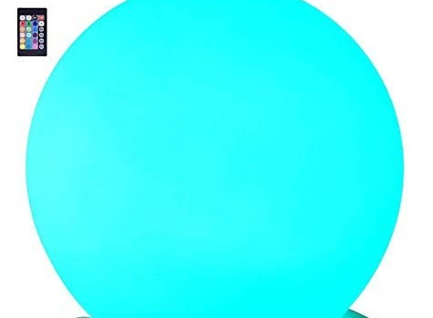 LOFTEK LED Ball Night Light, 8-inch 16 RGB Colors and Dimmable Globe Light with Remote, Upgraded Folding Handle, Seamless Matte Housing, Rechargeable IP65 Floating Pool Light, for Nursery or Decor