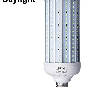 50 Watt LED Corn Lamp,5000 Lumen 350 Watt Equivalent 6500K,Cool Daylight White LED Street & Area Light,E26/E27 Medium Base,for Garage Factory Warehouse High Bay Barn and More
