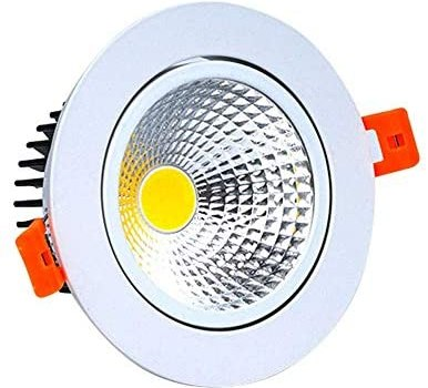 WEM Borehole Size 90Mm-100Mm Cob Embedded Integrated Clothing Store Spotlight Fashioned Creative Led Panel Ceiling Lights White Aluminum Recessed Downlight Mall Living Room Aisle Porch Lighting Fixtu