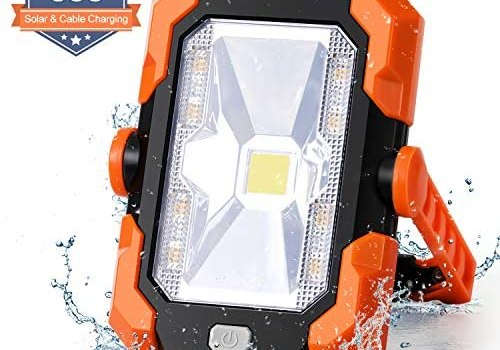 LED Work Lights, LED Flood Lights, 35W 1500LM Portable LED Work Light, Ideal for Outdoor, Camping, Hiking, Emergency, Car Maintenance and Work Site Lighting.