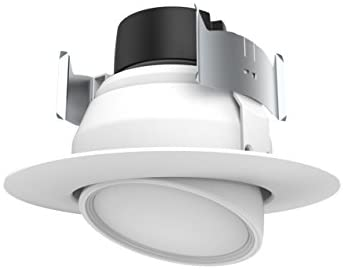 Satco S9464 Transitional LED Downlight in White Finish, 3.31 inches, 9W