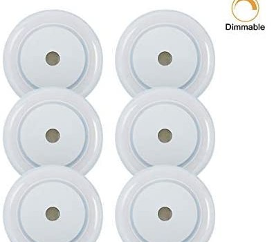 12V RV LED Touch Boat Ceiling Light – 3W Dimmer 2800K Soft Warm Memory Marine Lamp Annular Frosted Lens with Stepless Dimmable, Surface Mount, Hidden Fastener Design, Stainless Steel Screw, Pack of 6