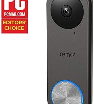 Remo+ RemoBell S WiFi Video Doorbell Camera with HD Video, Motion Sensor, 2-Way Talk, and Alexa Enabled (No Monthly Fees) (Free Cloud Storage)
