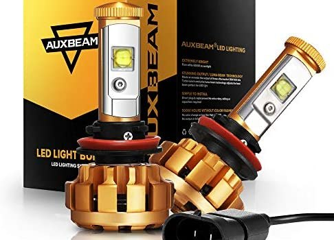 Auxbeam H11 LED Headlight Bulbs F-16 Series Extremely Bright Led Conversion Kit 60W 6000lm SMD LED Chips Fog Light – 2 Year Warranty