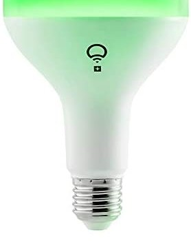 LIFX + 1100-Lumen BR30 Smart LED Light Bulb with Infrared (LHB30E26UC10P) Multi Colored – 17W – New