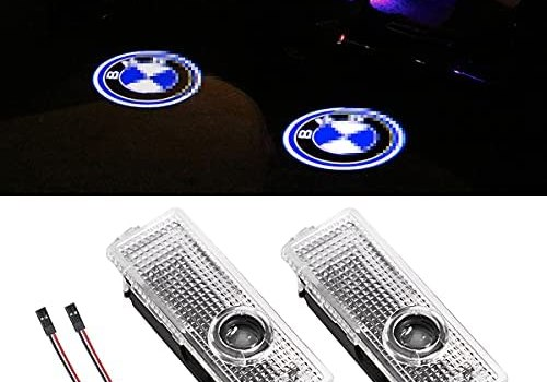 Car Door Logo Projector Lights, 2 Pack Car Door LED Ghost Shadow Welcome Light, Compatible with X1 X3 X4 X5 X6 3 4 5 6 7 M Z GT Series, Automotive Lighting Accessories