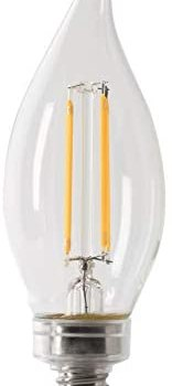 Feit Electric BPCFC25/927CA/FIL/2 25W Equivalent Dimmable 200 Lumens LED Candelabra Light Bulb, 2 Count (Pack of 1), 2700K Soft White, 2 Piece