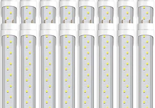(16-Pack)Barrina T8 T10 T12 LED Light Tube, 4FT, 24W, 6000K (Super Bright White), 3200 Lumens, Dual-End Powered, Clear Cover, T8 T10 T12 Fluorescent Light Bulbs Replacement, ETL Listed