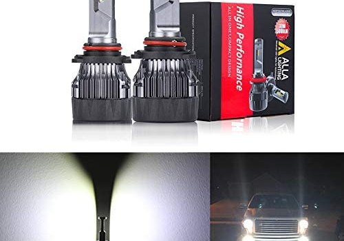 Alla Lighting S-HCR HB3 9005 LED Headlights (off-road) Bulbs Replacement 10000Lms Xtreme Super Bright 9045 High/Low Beam Forward Lighting, 6000K Xenon White