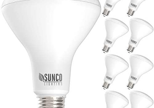 Sunco Lighting 8 Pack BR30 LED Bulb 11W=65W, 3000K Warm White, 850 LM, E26 Base, Dimmable, 25,000 Lifetime Hours, Indoor Flood Light for Cans – UL & Energy Star