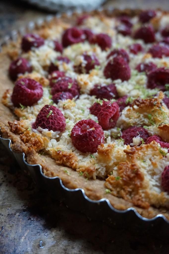Raspberry Macaroon Tart