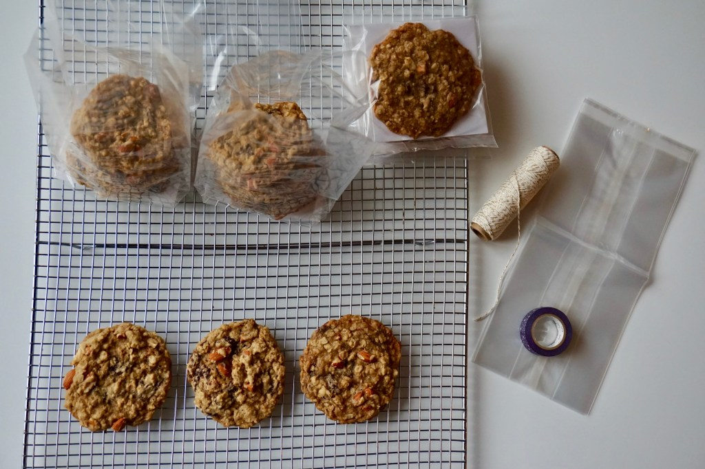 Toasted Almond Oatmeal Cookies