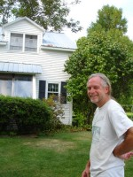 Doug at his new house in South Hero, VT