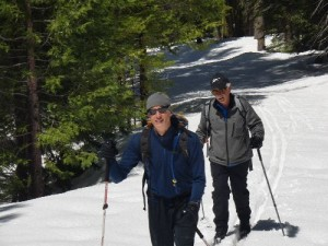 Tom and Bruce on the NFS trail to the Mariposa Grove