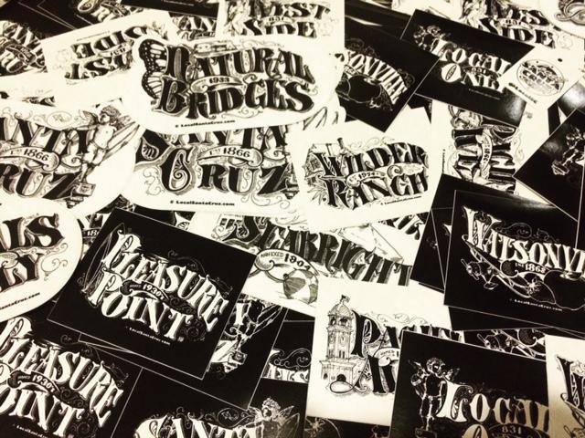 Local Santa Cruz Victorian Stickers