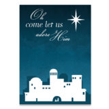 Oh Come Let Us Adore Him Card