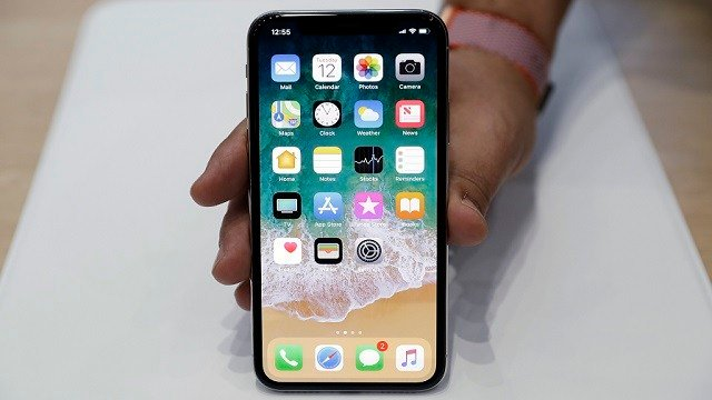 In this Tuesday, Sept. 12, 2017, file photo, the new iPhone X is displayed in the showroom. (AP Photo/Marcio Jose Sanchez, File)