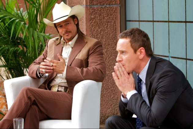The Counselor Movie Still 2 - Michael Fassbender & Brad Pitt