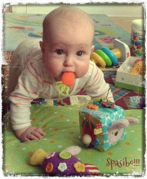 развивающий куб для малыша своими руками