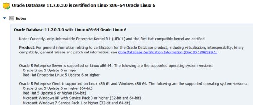 OEL6 and RHEL6 certification