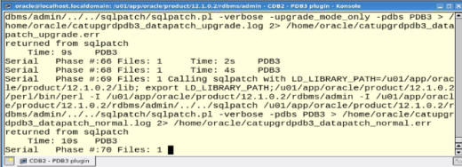 Datapatch phases command line upgrade catctl.pl