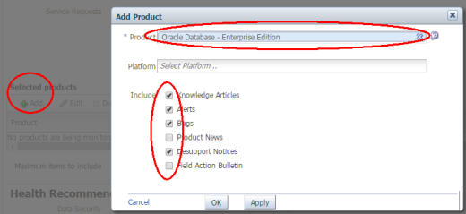 Add Product Selection
