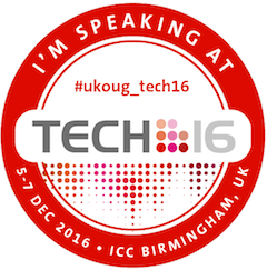UKOUG TECH 16 is coming - and I'm speaking